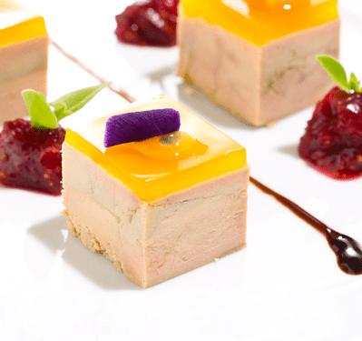 Foie Gras de Canard au sel de Guérande et à la Gelée de Pineau