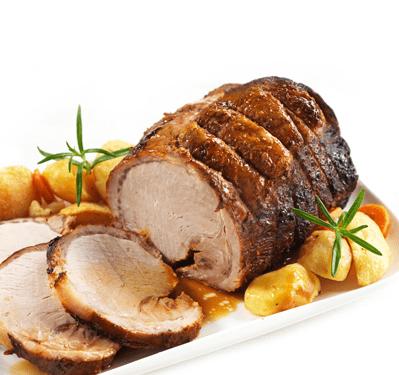 """Rôtis de Porc """"Enchaud"""" et de Poule"""