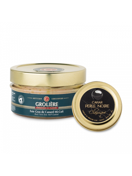 DUO : Foie Gras 120g et Caviar 20g