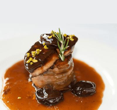 Périgueux, Foie Gras, Raspberry Sauces